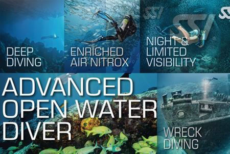 SSI Advanced Open Water Diver Bundle 1