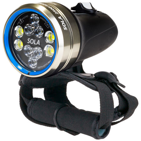 sola sf2500, underwater dive light