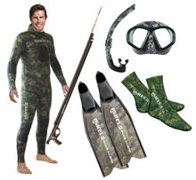 mares, illusion fins, free diver, freediving, sealhouette mask, dual snorkel, sox, neoprene sox