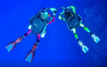 mares revolution, horizon rebreather, semi closed rebreather, no bubbles diving